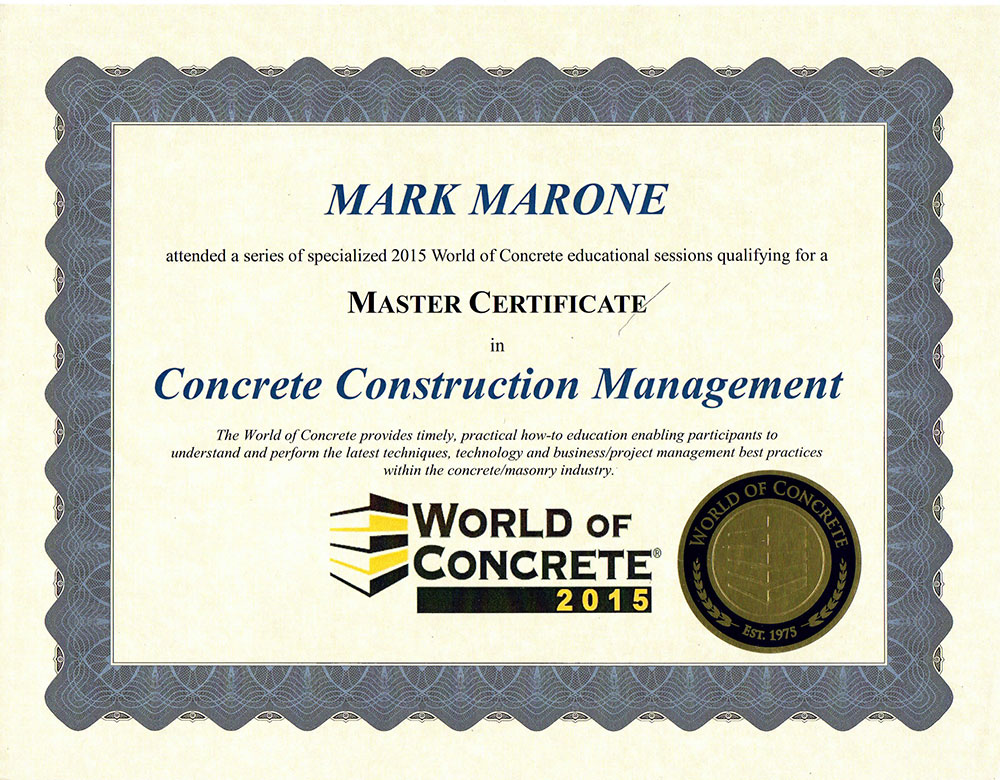 Construction Management Certification