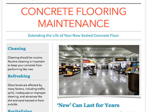 Concrete Flooring Maintenance