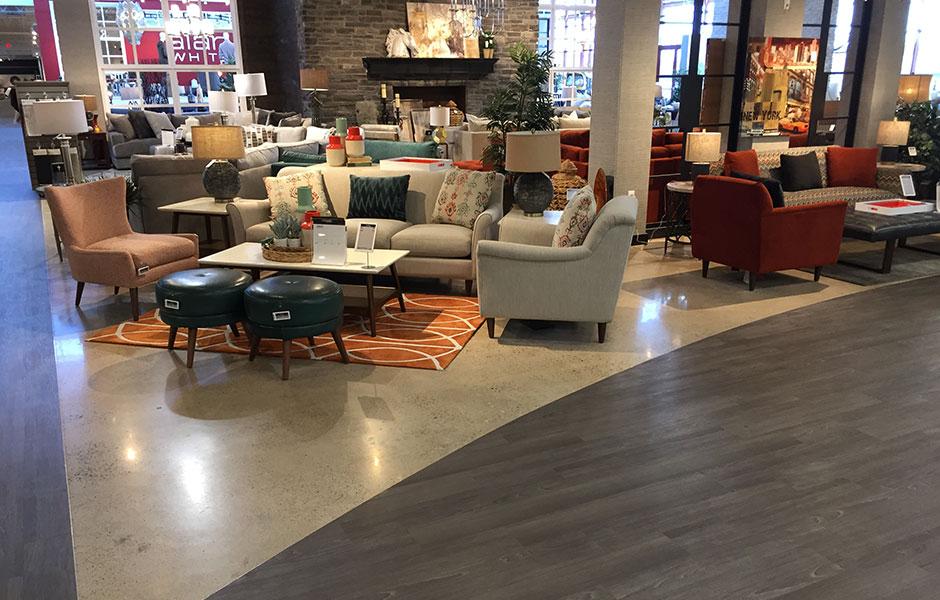 Beau ... 200 Grit Polish Of The Showroom On Furniture Row Custom Concrete Prep  And Polish ...