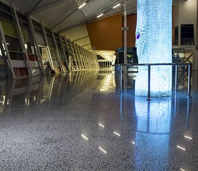 800 grit polish concrete flooring